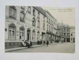 Cp/pk Fotokaart Montaigu Scherpenheuvel 1922 Markt Albertusplaats Marché Hotel Du Cygne De Zwaan Restaurant - Scherpenheuvel-Zichem