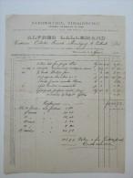 Facture Invoice Alfred Lalemand Savonnerie Vinaigrerie Marcinelle 1900 - Belgique