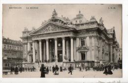 BELGIQUE . BELGIË . BRUXELLES . LA BOURSE . TIMBRE 5 C VERT NE PAS LIVRER LE DIMANCHE - Réf. N°9945 - - Monuments
