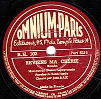 78 Trs - 27 Cm - état TB - Jean DAX - REVIENS MA CHERIE - NUIT D'AMOUR - 78 Rpm - Gramophone Records