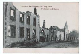 4242  Cpa  BRUDERDORF / BROUDERDORFF   : Schlacht Bei Saarburg 20 Aug 1914  , Bruderdorf Mit Kirche      2  Scans - Sarrebourg