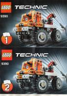 CATALOGUES LEGO Technic  9390 1 & 2  (15cmx10cm)  (lot De 2) - Catalogs