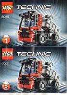 CATALOGUES LEGO Technic  8065 1 & 2  (15cmx10cm)  (lot De 2) - Catalogues
