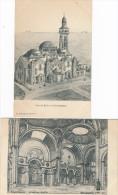 Lot De 2 Cartes De LA NOUVELLE EGLISE De CONCARNEAU ( Dessin Signé Charles Chaussepied Architecte 1918 Ou 1915 - Concarneau