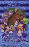 Télécarte NEUVE Argent Japon / MF-1000949 - DISNEY SEA - MICKEY  - Japan MINT SILVER Phonecard Telefonkarte - Disney