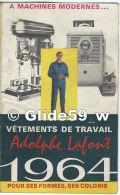 Carnet Calendrier De Poche - Vêtements De Travail Adolphe Lafont - 1964 - Petit Format : 1961-70