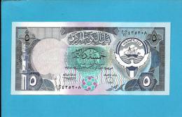 KUWAIT - 5 Dinar - ( 1980 - 91 ) - P 14.b - Sign. 6 - UNC. - Stolen By Iraqi Forces - Denominator / 19 - SEE Description - Kuwait