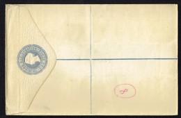 1884 Victoria 2d. Registered Envelope McCorquodale & Co  Pale Blue On Cream Unused - Trinidad & Tobago (...-1961)