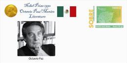 Spain 2015 - Nobel Prize 1990 - Literature - Octavio Paz/Mexico Special Cover - Prix Nobel