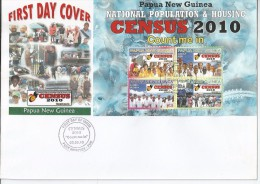 Papua New Guinea 2010 - National Census First Day Cover - Movimiento Scout