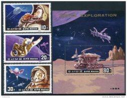 Korea 1984, SC #2429-32, Perf 3V+S/S, Space, Cosmonaut - Asien