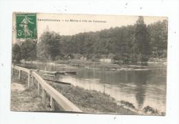 Cp , 94 , CHARENTONNEAU , La Marne à L'île Du CORMORAN , Voyagée , Félix Phot. édit , Alfortville - France