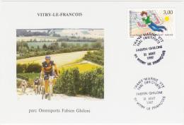 VITRY-LE-FRANCOIS / Parc Omnisports Fabien Ghiloni /  VTT / Timbre PHILEXJEUNES 97 - NANTES