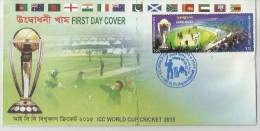 Bangladesh 2015 ICC Cricket World Cup 1v FDC Trophy India Pakistan Australia UK Sri Lanka South Africa New Zealand UAE - Cricket
