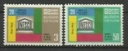 CEYLAN  - UNESCO -  YVERT Nº 368-369 - Sri Lanka (Ceylon) (1948-...)