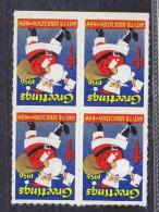 USA CINDERELLA BLx4 ANTI TUBERCULOSIS ASSOCIATION 1956 AAE3676 - Erinnophilie