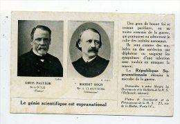 Supranationalit�.Louis Pasteur et Robert Koch.