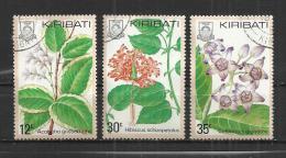 KIRIBATI 1981 - FLOWERS - 3 DIFFERENT - USED OBLITERE GESTEMPELT USADO - Kiribati (1979-...)