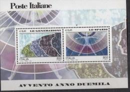 """PIA - ITALIA - 2000 : Avvento Dell' Anno 2000 """" Le Generazioni - Lo Spazio """"   - (SAS Bf 29) - 6. 1946-.. Repubblica"""