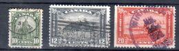 1930 - 31, Série Courante, , YT 151 - 153, Oblitéré, Lot 43424 - 1911-1935 Reign Of George V