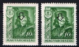 Hungary 1935. ERROR Rakoczi Mustache Missing !!! RR ! MH (*) - Variétés Et Curiosités