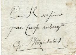 Voiturier,1806, Transport Par Voiture  Tableau,L´Hospitalet( Marque Postale), St Girons,Montpellier,Causse,Faure,Monrous - Trasporti