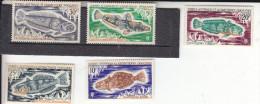 TAAF-         N°  34 à 38- Belle Gomme D´origine....... COTE : 26 Euros - Unused Stamps