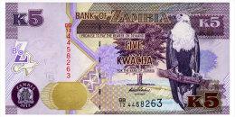 ZAMBIA 5 KWACHA 2012 Pick 50a Unc - Zambia