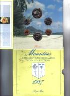 Mauritius Brilant Uncirculated Coin Collection 1987 Ufficiale FDC - Mauritius