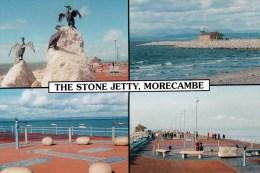 Postcard - Morecambe Stone Jetty (Lighthouse/Statues), Lancashire. MORE-0006 - Altri