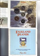 Falkland Islands Uncirculated Coin Collection 1987 Ufficiale FDC - Falkland