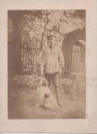 Vintage Photographie - Chasseur Et Son Chien  - 19 ème - Photographs