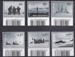 Ross Dependency 2002 The Discovery Expedition 6v (code In Margin) ** Mnh (22488) - Ongebruikt