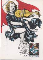CP- TIMBRE - COB 1521 - Du 13.12.1969  - Solidarité. Vitraux D´Eglises - FDC