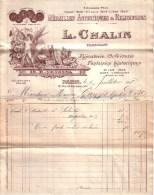 PARIS - ART NOUVEAU , ANGE - MEDAILLES ARTISTIQUES & RELIGIEUSES - L. CHALIN - 1918 - France