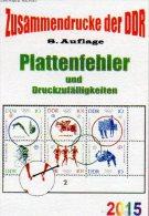 RICHTER Katalog Abarten+PF In Zusammendrucke DDR 2015 Neu 25€ Teil 4 Abart Varianten Se-tenant Special Catalogue Germany - Télécartes