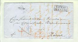 Polen 1865-09-22 Brief Haynau Nach Zürich Taxiert - Pologne