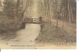 MONTIGNY SUR AVRE   Vallée De L'avre  Le Pont Noir ,couleur Glacé Vernis  VOIR DETAIL - Montigny-sur-Avre