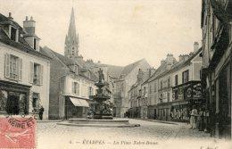 C4177 Cpa 91 Etampes - La Place Notre Dame - Etampes