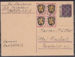 Frz.Zone OPD Koblenz Dt.Reich MiNo. P 299 Überdruck Zufrankiert 4x3 Ab Montabaur/12.5.48, Selten - Zona Francesa