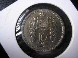 MONACO 10 FRANCS ANNEE 1947 ETAT SUP++ - Monaco