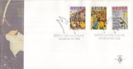Aruba - FDCE45 - Folklore - Muziekinstrumenten/Dera Gai Ritueel/Tekst Dera Gai Lied - NVPH E45 - Curaçao, Nederlandse Antillen, Aruba