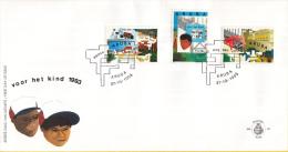 Aruba - FDCE48 - Kinderzegels - Hoofden In Arubaans Landschap/in Andere Cultuur/terugkeer- NVPH E48 - Curaçao, Nederlandse Antillen, Aruba