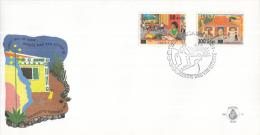 Aruba - FDCE51 - Solidariteit, Internationale Jaar Van Het Gezin - Gezin Binnenshuis/Gezin Buitenshuis - NVPH E51 - Curaçao, Nederlandse Antillen, Aruba
