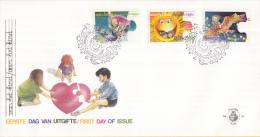 Aruba - FDCE54 - Kinderzegels - Kinderen Op Anker/Kinderen In De Zon/Kinderen Op Uil - NVPH E54 - Curaçao, Nederlandse Antillen, Aruba