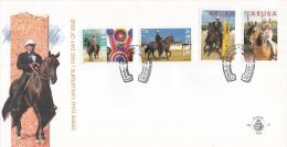 Aruba - FDCE57 - Interpaso-paardenshow 1995 - Casanova II/Paso Fino/Figuur 8/Jonge Paardrijdster - NVPH E57 - Curaçao, Nederlandse Antillen, Aruba