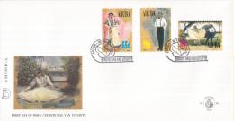 Aruba - FDC62 - America-zegels UPAEP, Nationale Klederdracht - Vrouw Met Schort/Man Met Hoed/Danspaar - NVPH E62 - Curaçao, Nederlandse Antillen, Aruba