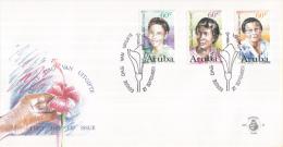 Aruba - FDC65 - Beroemde Vrouwen - Laura S. Wernet-Paskel/Livia T.I. Ecury/Lolita E. Euson - NVPH E65 - Curaçao, Nederlandse Antillen, Aruba