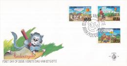 Aruba - FDC66 - Kinderzegels - Konijn Met Jong/Uil Met Jong/Jongens Met Vlieger - NVPH E66 - Curaçao, Nederlandse Antillen, Aruba