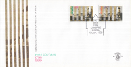 Aruba - FDC73 - Kinderzegels - 200 Jaar Fort Zoutman - Fort Met Willem-III-toren - NVPH E73 - Curaçao, Nederlandse Antillen, Aruba